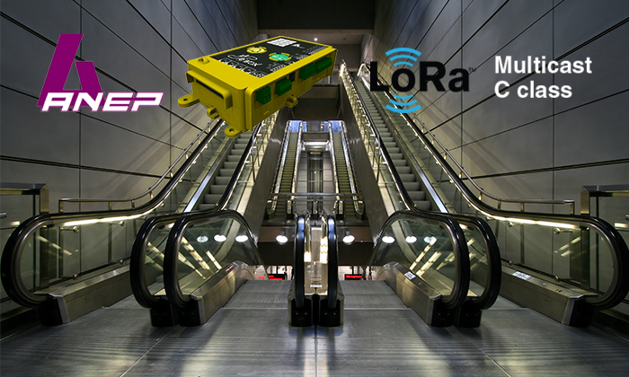 ANEP unveils E-BOX, a unique LoRaWAN solution powered by CommonSense IoT platform dedicated to remote surveillance and control of escalators and movings walkways.