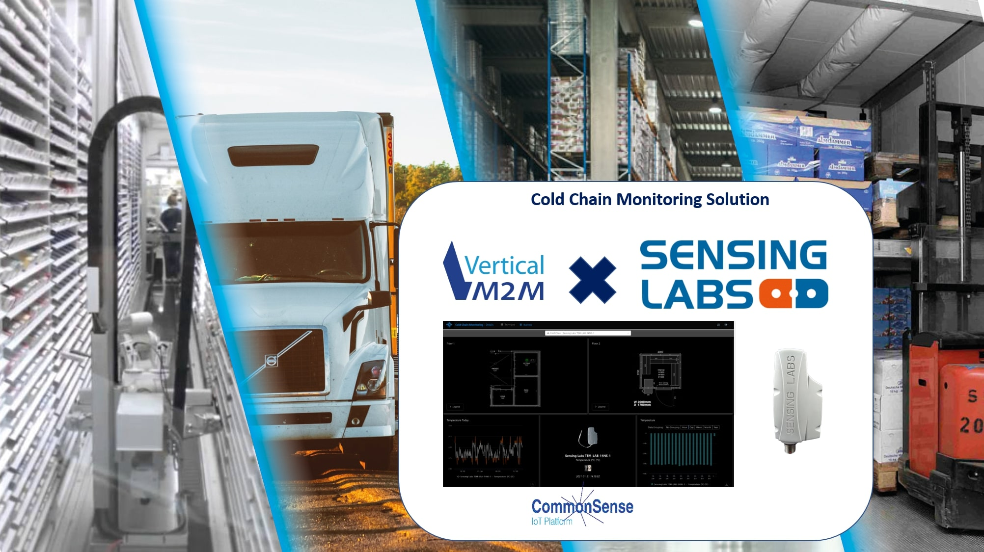 Vertical M2M and SENSING LABS, leading provider of long-range IoT solutions and sensors, team up to deliver an innovative end-to-end cold chain monitoring solution relying on LoRAWAN technologies.
